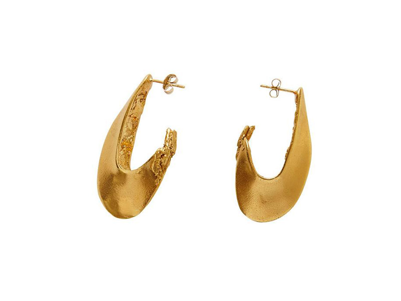 Alighieri Il Leone hoop earrings 2.0 in 24k gold plated bronze