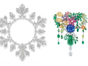White magnificence vs. botanical luxuriance. French jewelry houses Boucheron and Dior offer stunning strolls into their fabulous high jewelry collections
