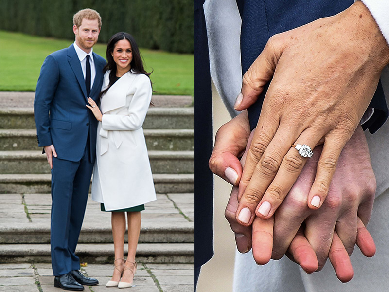 prince harry meghan markle engagement ring royal family ring diamond