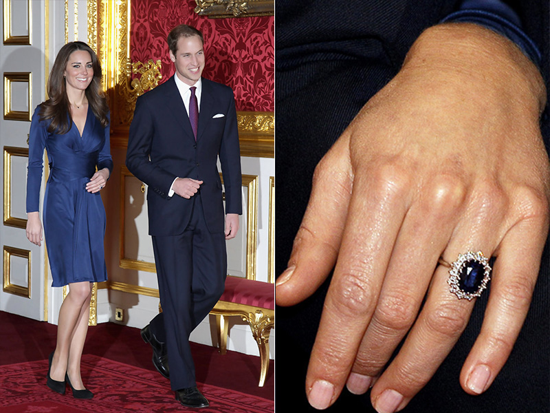 prince william kate middleton royal family ring blue sapphire