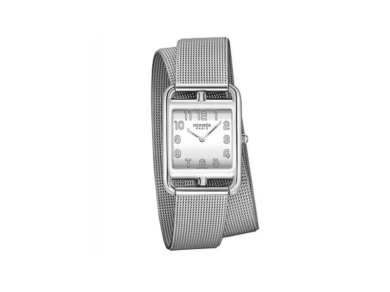 Hermès - Cape Cod watch with a Milanese mesh bracelet