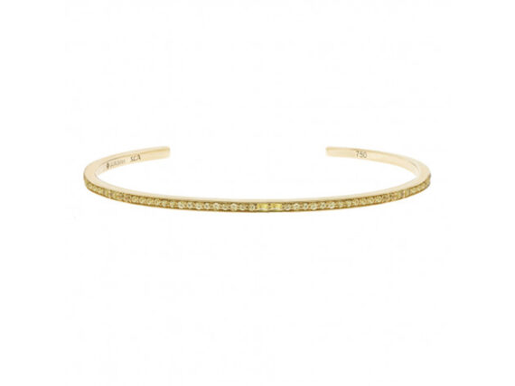Laura Sayan - Sireliss bracelet mounted on 18k yellow gold with yellow sapphires