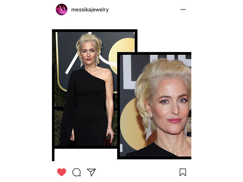 Messika Gillian Anderson wore High Jewelry Madelaine earrings