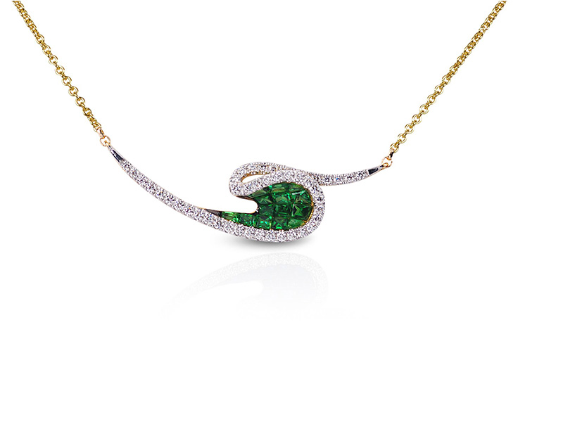 Kavant & Sharart necklace diamond Tsavorite garnet