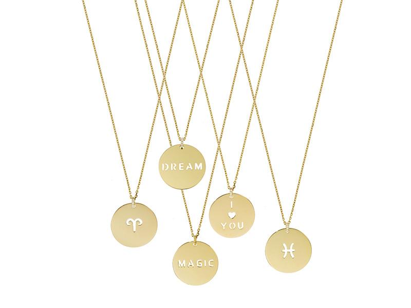 Laura sayan medals yellow gold