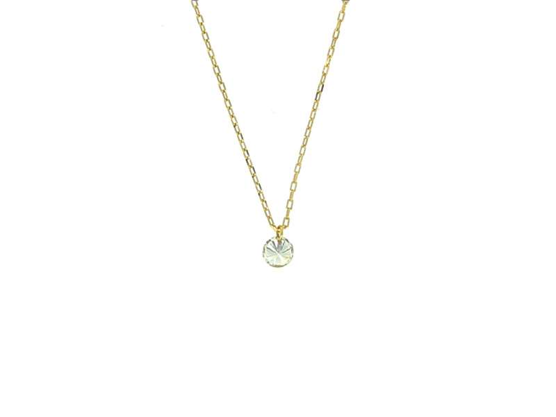 persé necklace diamond yellow gold