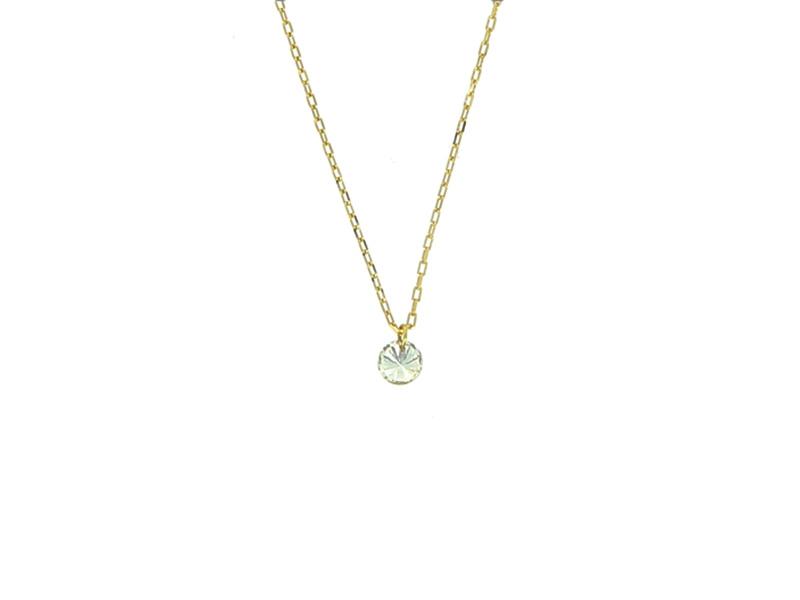 persé necklace diamond yellow gold