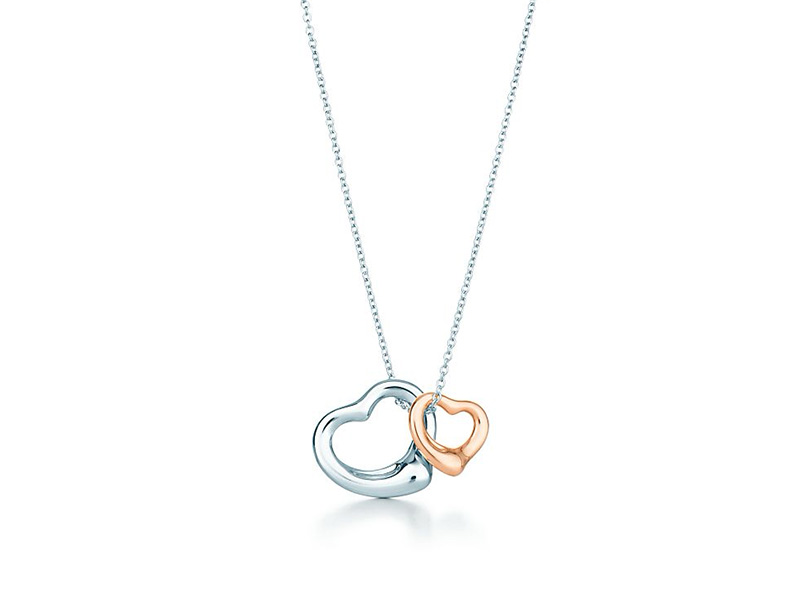tiffany and co necklace silver rose gold