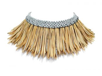 Tiffany & Co. - Blue Book Collection - The Art of the Wild necklace mounted on gold and platinum