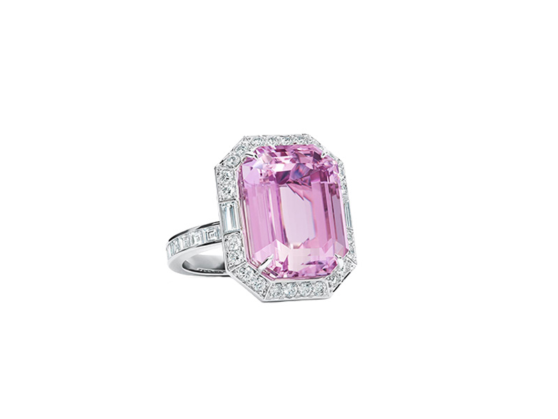 tiffany kunzite diamond ring