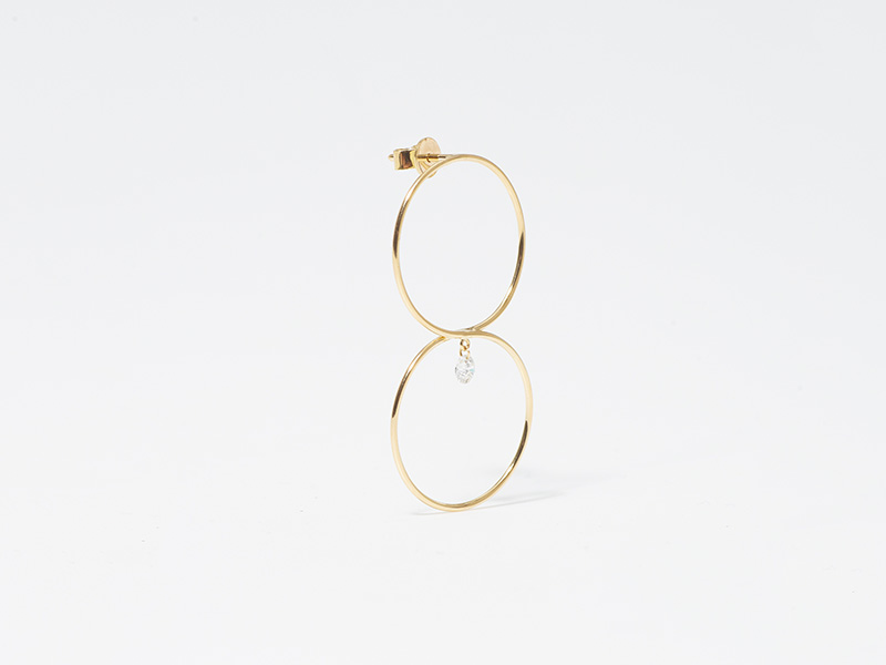 Persee 8 earring diamond yellow gold