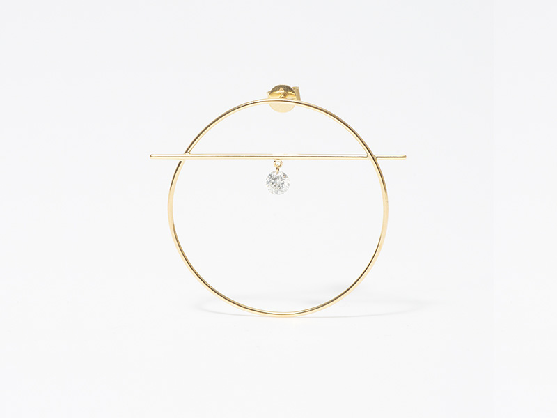 Persee Fibule earring yellow gold diamond