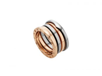 Bvlgari B.zero1 ring mounted on rose and white gold