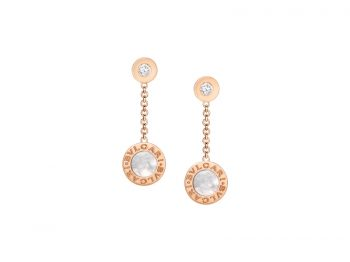 Bvlgari Bvlgari Earrings in rose gold with mother of pearl and diamonds