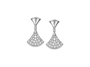 Bvlgari Divas dream Earrings white gold and full pavé diamond