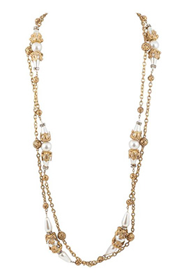 Chanel Gilt and Pearl Sautoir by Maison Goossens