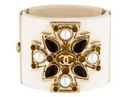 Chanel Resin Maltese Cross Cuff