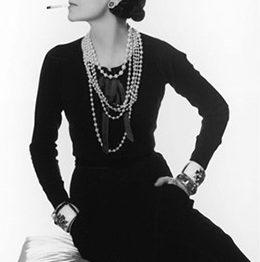 Coco Chanel Portrait black and white picture