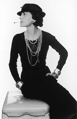 Coco Chanel Portrait black and white picture