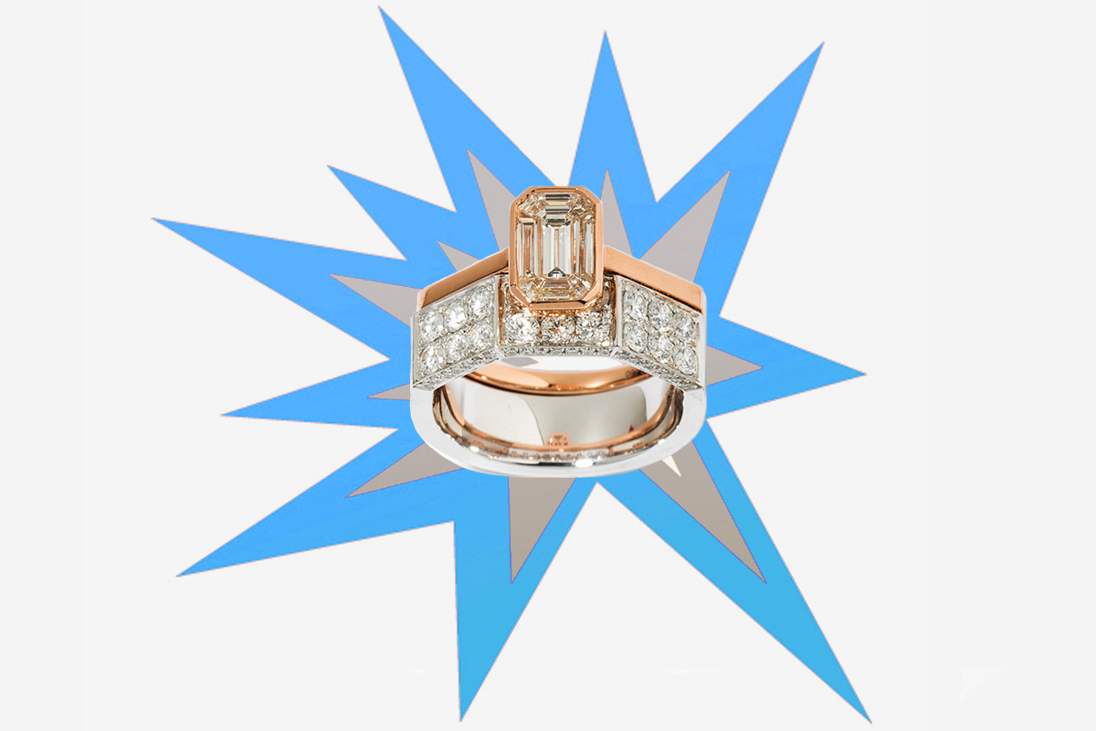 Crush baselworld 2019 As29 illusion diamond ring rose gold