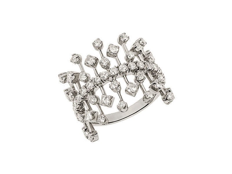 Malka Ring White gold diamonds Rivka Nahmias