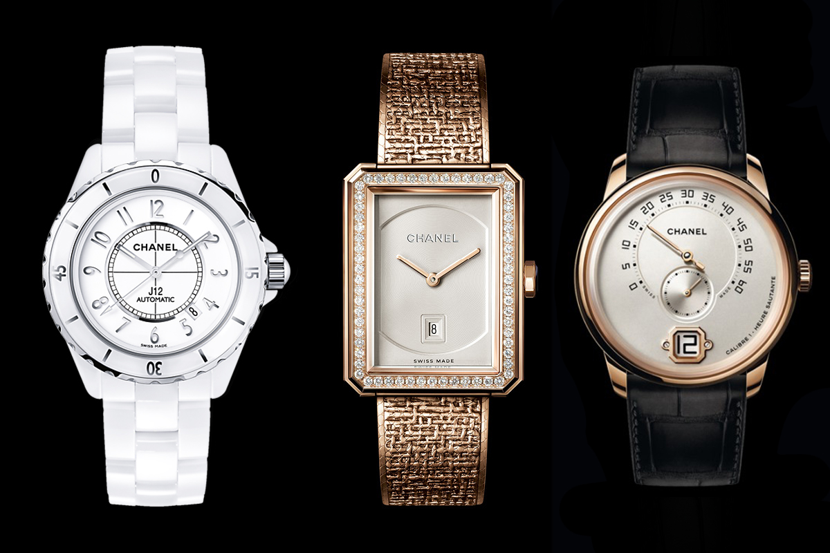 Chanel Watch Industry 3 watches j12, Monsieur de Chanel and Premiere Watch