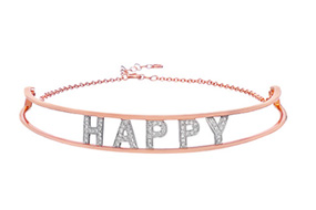 Spallanzani Jewelry Only You Happy Choker rose gold adorned with diamonds
