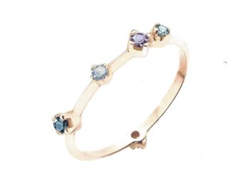 ACQUA BLUE Boheme ring