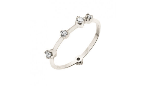 Boheme ring diamonds white gold by rivka nahmias