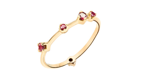 Red ruby boheme ring