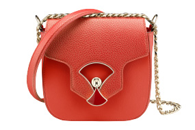 Bvlgari Bag Divas' dream flap cover in vulcano opal smooth and shiny grain calf leather