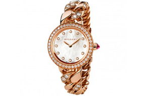 Bvlgari Bvlgari Piccola Catene Watch rose gold and diamonds
