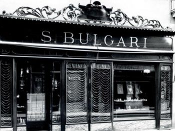 Bvlgari Flagship black and white picture