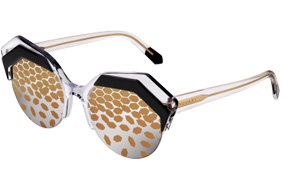 Bvlgari Serpenteyes Power-ip' cat-eye acetate frame with round lenses