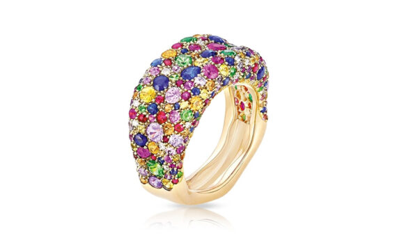 Emotion Multi-coloured Thin Ring