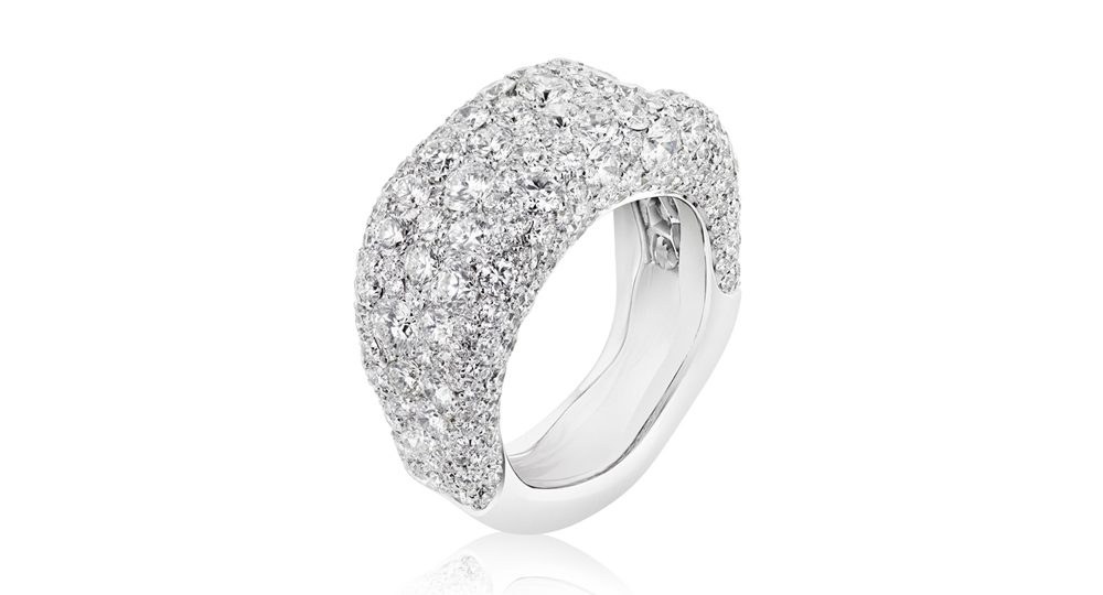 Bague fine Emotion avec diamants blancs