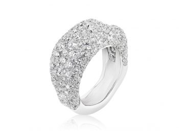 Emotion White Diamond Thin Ring