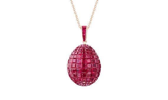 Pendentif Mosaic rubis