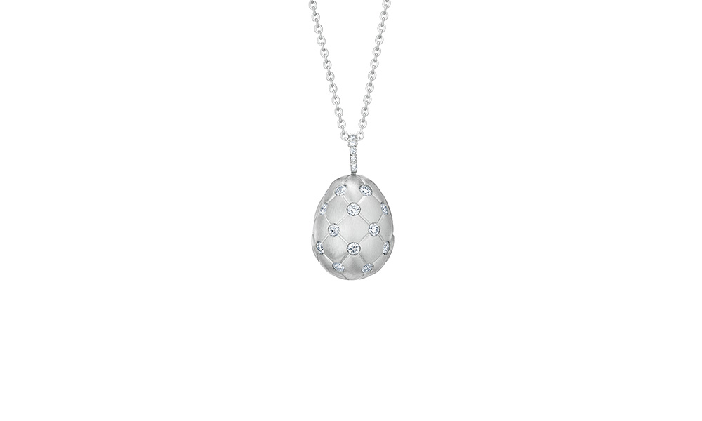 Treillage Diamond White Gold Pendant