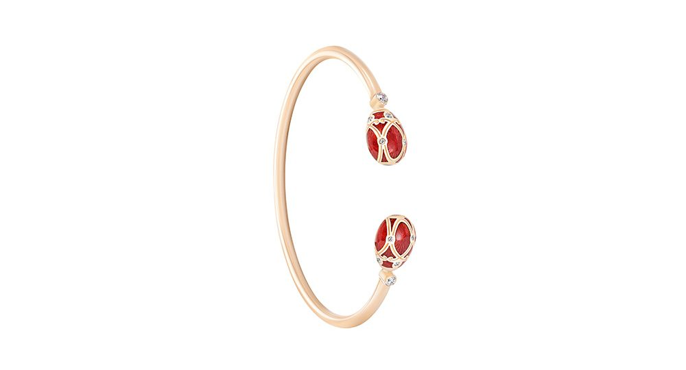 Palais Yelagin Red Open-set Bangle