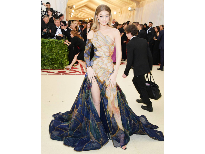 Gigi Hadid Met Gala 2018 wearing 5 million worth of Loraine Schwartz Jewels