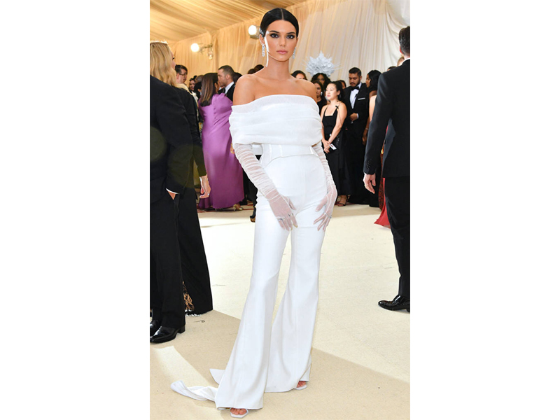 Kendall Jenner Met Gala wearing tiffany & Co. jewelry
