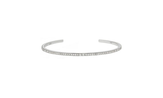 Laura Sayam Bangle Sireliss or blanc diamant