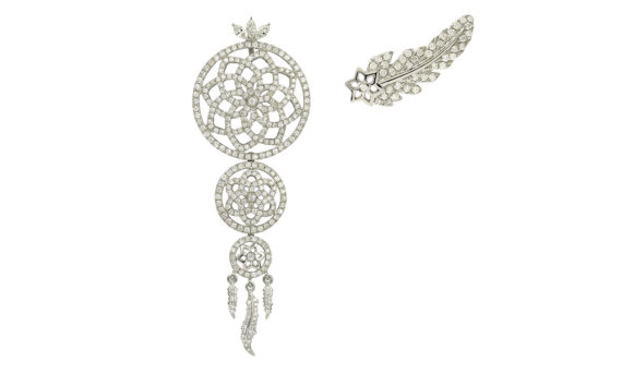 Laura Sayan Dream Catcher or blanc diamant