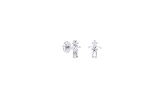 Little Ones Paris Puce Fille or blanc 18K et diamants