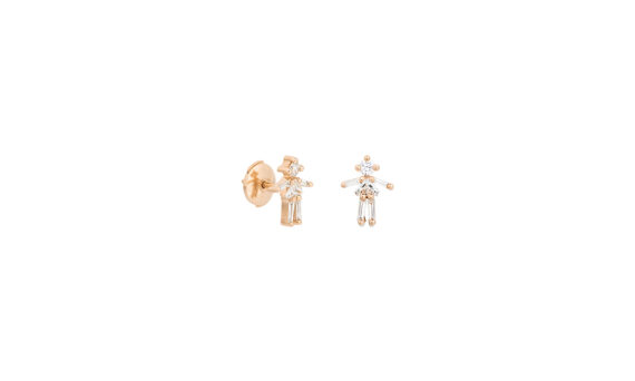 Little Ones Paris Puce Fille or rose 18K diamants