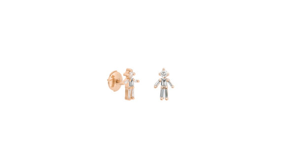 Little Ones Paris Puce Garçon or rose 18K diamants