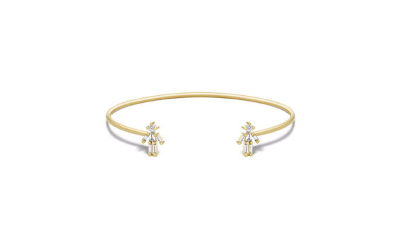 Diamonds and 18 carats gold Boy Double bangle