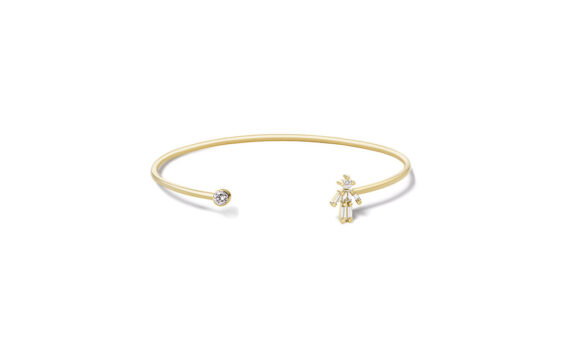 Diamonds and 18 carats gold Boy single bangle