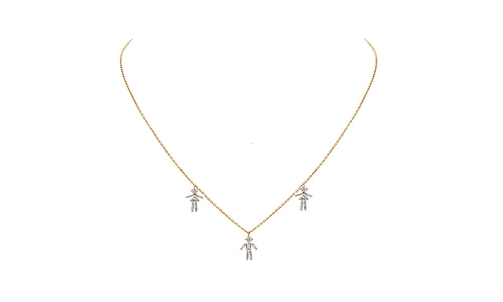 Shop diamonds and 18 carats gold 2 girls and 1 boy pendant necklace diamonds and 18 carats gold 2 girls and 1 boy pendant necklace aloadofball Images